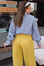 """Стильная хлопковая женская блуза """"Hamburg"""" с длинным рукавом (большие размеры), фото 2"""