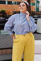 """Стильная хлопковая женская блуза """"Hamburg"""" с длинным рукавом (большие размеры), фото 3"""