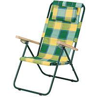 Кресло-шезлонг «Ясень»,  Ø 20 мм (бязь клетка Релакс) 2110014, фото 1