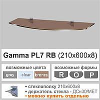 Полка стеклянная Commus PL7RB