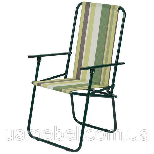 Стул «Дачный», Ø 18 мм (текстилен зеленая полоса) 2110028