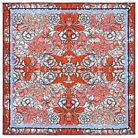 10821-5, павлопосадский платок на голову хлопковый (саржа) с подрубкой, фото 1