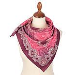 10824-6, павлопосадский платок на голову хлопковый (саржа) с подрубкой, фото 2