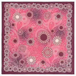 10824-6, павлопосадский платок на голову хлопковый (саржа) с подрубкой