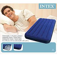 Надувная кровать матрас 68757 Intex (99x191x22см)