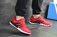 Мужские кроссовки Adidas Clima Cool, сетка, пена, красные с черным