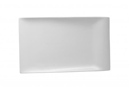 """Тарелка прямоугольная 12"""" (30см) с бортом  Alt Porcelain CaBaRe Белая (YF042)"""