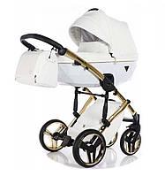 Универсальная коляска 2 в 1 TAKO Junama Diamond Individual 04 Белая с золотой рамой (24-JD-IN-04)