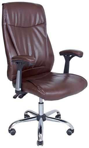 Крісло Арізона Хром М-1 Чорний Кожзам