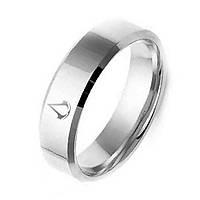 Кольцо из нержавеющей стали, серебристое анодирование, 1165КЖ