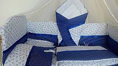 Детское постельное белье в кроватку Морячок, комплект 9 предметов