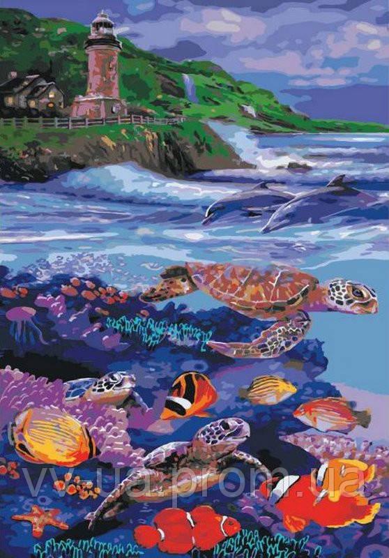 Картина по номерам Морское царство, 35x50 см, Идейка (КНО4031)