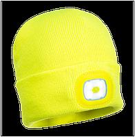 Детская шапка с LED фонариком B027 Желтый