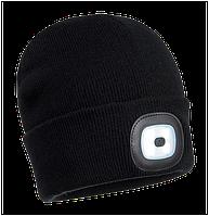 Мягкая шапочка с перезаряжаемым с помощью USB LED фонариком B029