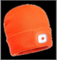 Шапка с перезаряжаемым LED фонарём Portwest B029 USB Оранжевый