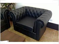 Кресло Куин Кожа Черная (Диал ТМ)