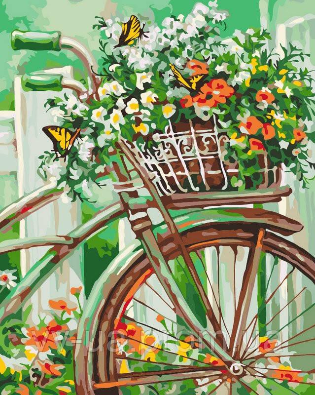 Картина по номерам Цветы Прованса, 40x50 см, Идейка, подарочная упаковка (КН2920)