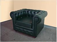 Куин кресло кожа зеленая (Диал ТМ)