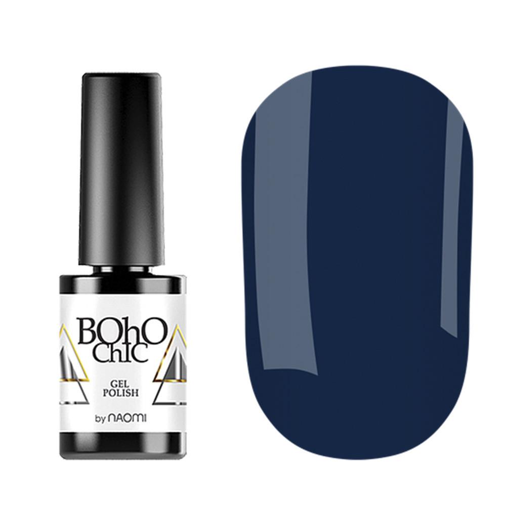 Гель-лак для ногтей Naomi Boho Chic №BC083 Плотный темный синий (эмаль) 6 мл