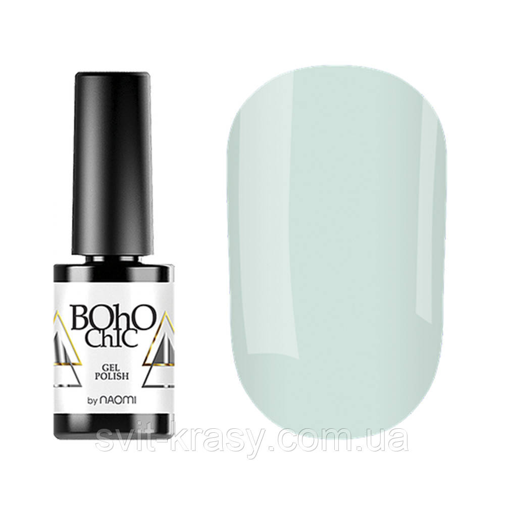Гель-лак для ногтей Naomi Boho Chic №BC097 Плотный молочный мятный (эмаль) 6 мл