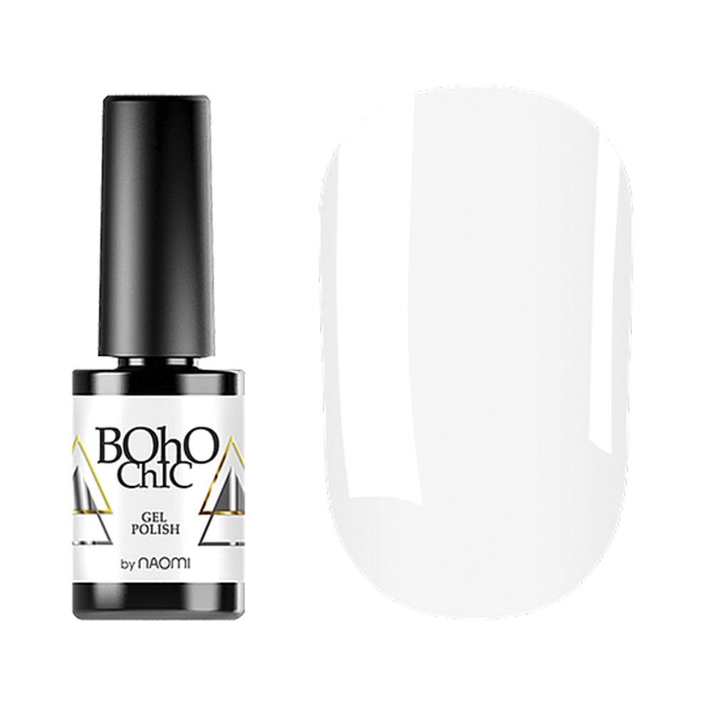 Гель-лак для ногтей Naomi  Boho Chic №BC098 Плотный белый (эмаль) 6 мл