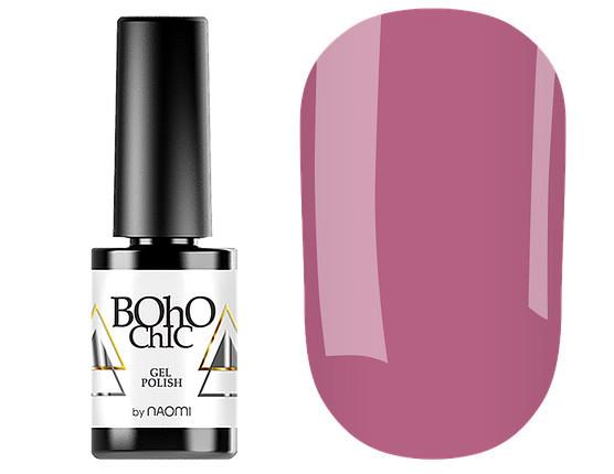 Гель-лак для ногтей Naomi  Boho Chic №BC118 Плотный розовый виноград (эмаль) 6 мл
