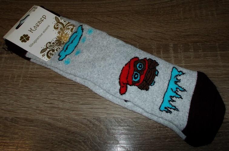 Носки женские СОВЫ хлопковые махровые 36-40 серые