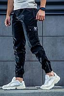 Мужские демисезонные штаны в стиле Cargo REXTIM Hooligan Black черные
