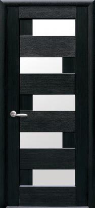 Межкомнатное полотно Пиана венге 700 мм со стеклом сатин.