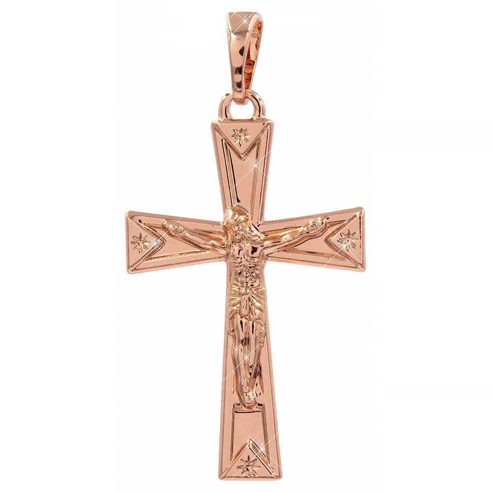 Подвеска Крестик 2,9 см (Медицинское золото)