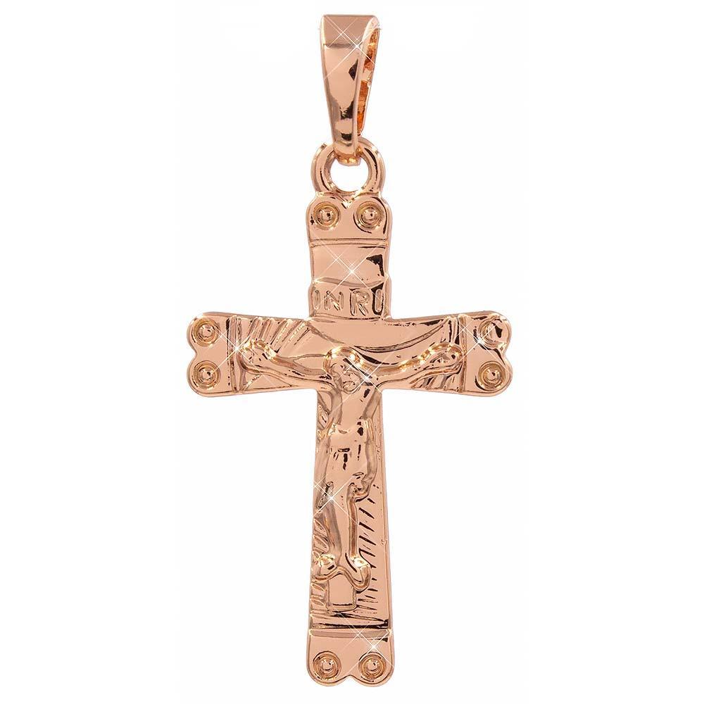 Подвеска Крестик 2,5 см (Медицинское золото)