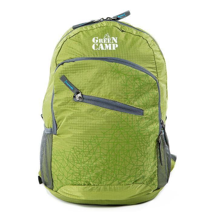 Складывающийся рюкзак (велорюкзак) GreenCamp, зеленый