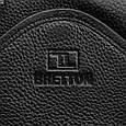 Мужская сумка рюкзак Bretton кожаная, черный, фото 4
