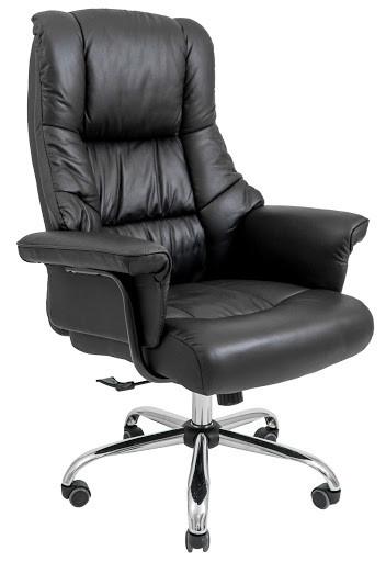 Кресло Конгрес Хром кожа черная