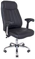 Кресло Фабио Хром М-2 Кожзам Черный, фото 1