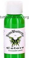 Ультрафиолетовый пигмент для татуировки зеленый 30 мл, фото 1