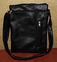 Практичная, удобная мужская сумка черного цвета, р.L, фото 1
