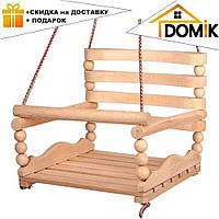 """Детская качеля №3 K-0160 """"БУК""""   качелька для ребенка   деревянная подвесная качеля"""
