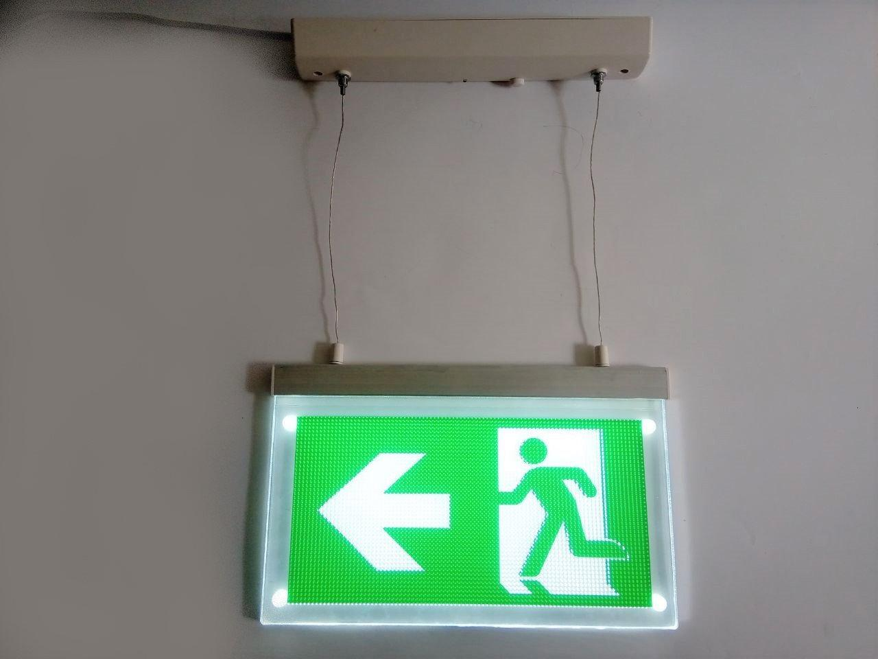 Указатель эвакуационного выхода аккумуляторный подвесной для аварийного освещения 220В