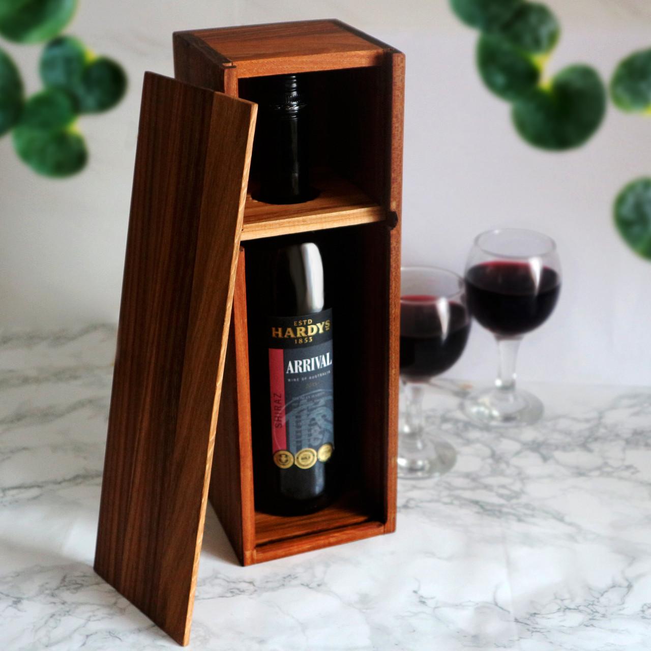 Деревянный бокс - подставка для вина Черешня/Берест