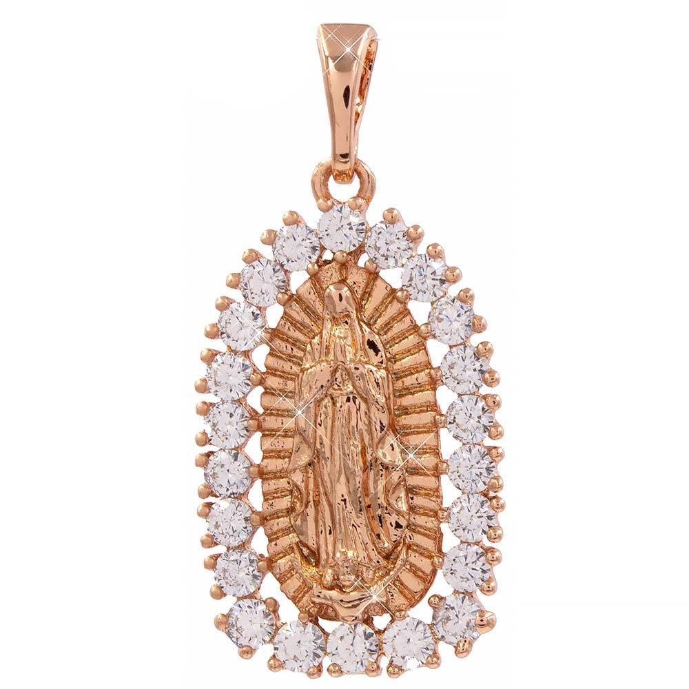 Ладанка Богородица 1,3*2 см (Медицинское золото)