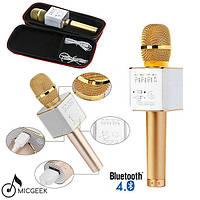 Караоке-микрофон Q9 gold в чехле
