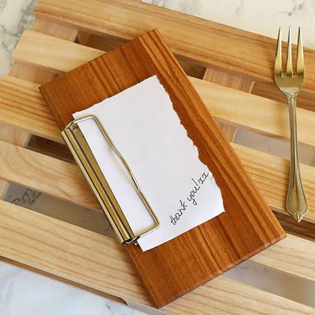 Чекбук с зажимом деревянный  Берест/Черешня LAS 177 х  97 х 10h мм, фото 2