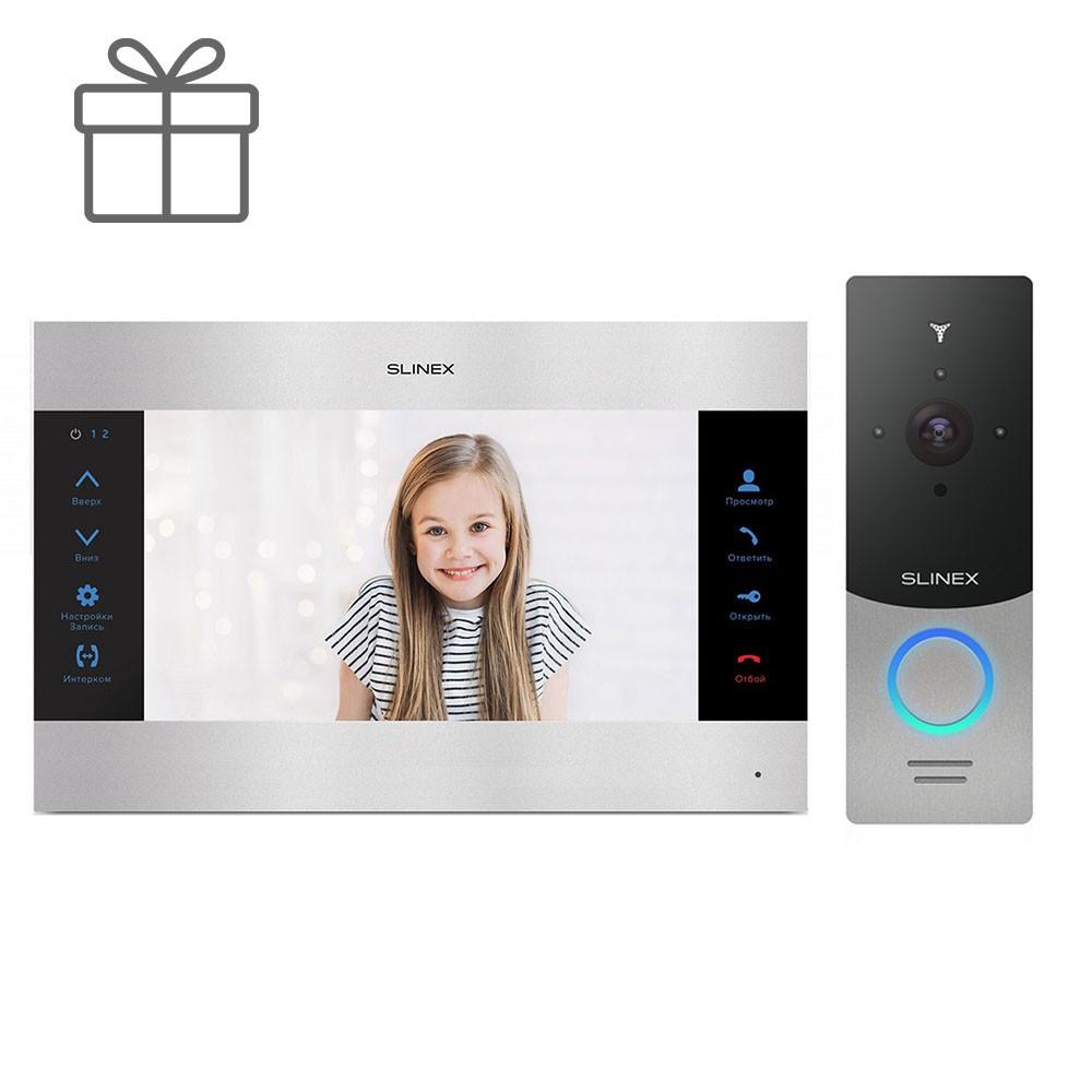 Комплект видеодомофона Slinex SL-10M и вызывная панель Slinex ML-20IP