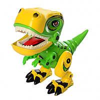 Іграшковий динозавр MING YING MY66 тиранозавр зі світловими та звуковими ефектами Жовто-Зелений (SUN5171)
