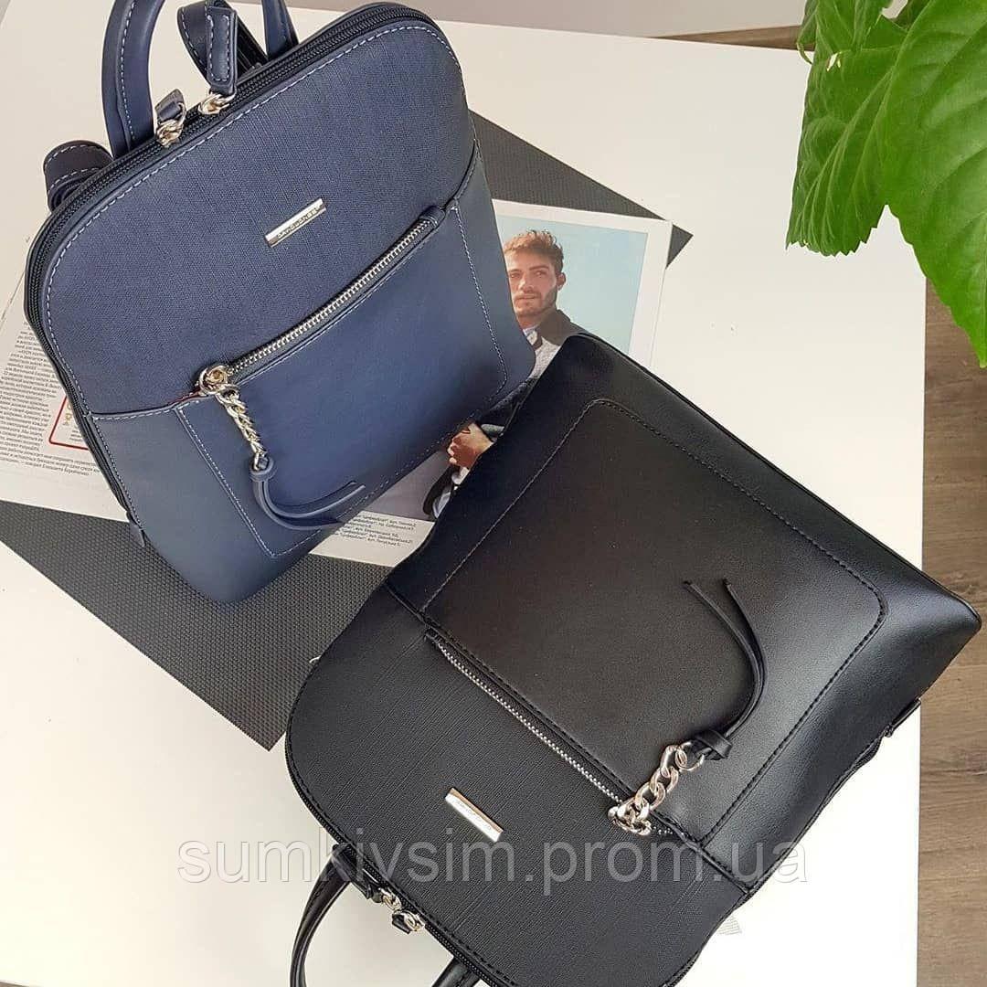 Рюкзак женский темно-синего цвета DAVID JONES 6109-2