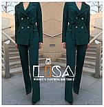 Женский брючный костюм: удлиненный пиджак и брюки (в расцветках), фото 4