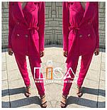 Женский брючный костюм: удлиненный пиджак и брюки (в расцветках), фото 5
