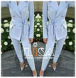 Женский брючный костюм: удлиненный пиджак и брюки (в расцветках), фото 6
