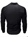 Чоловіча сорочка з довгими рукавами приталеного крою, посадка Slim Fit (біла), фото 4
